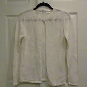 JEANNE PIERRE, Vintage Open Knit Cardigan, Cotton